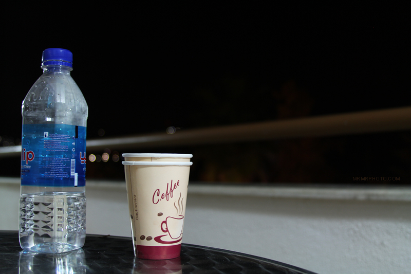 A cup and a bottle