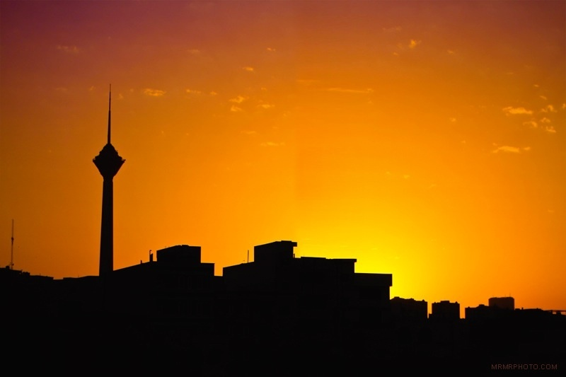 Milad tower at sunset