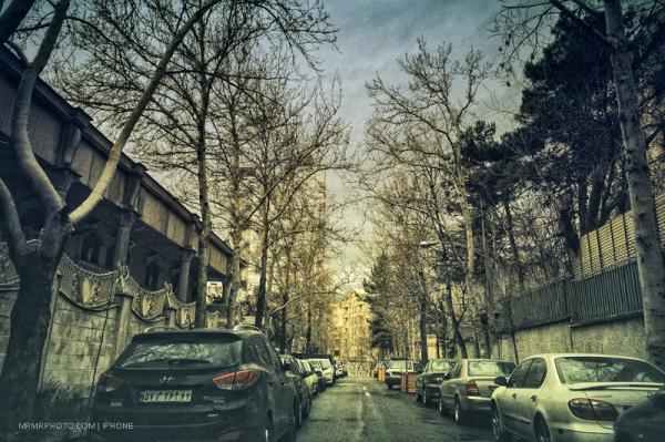 An alley in Tehran
