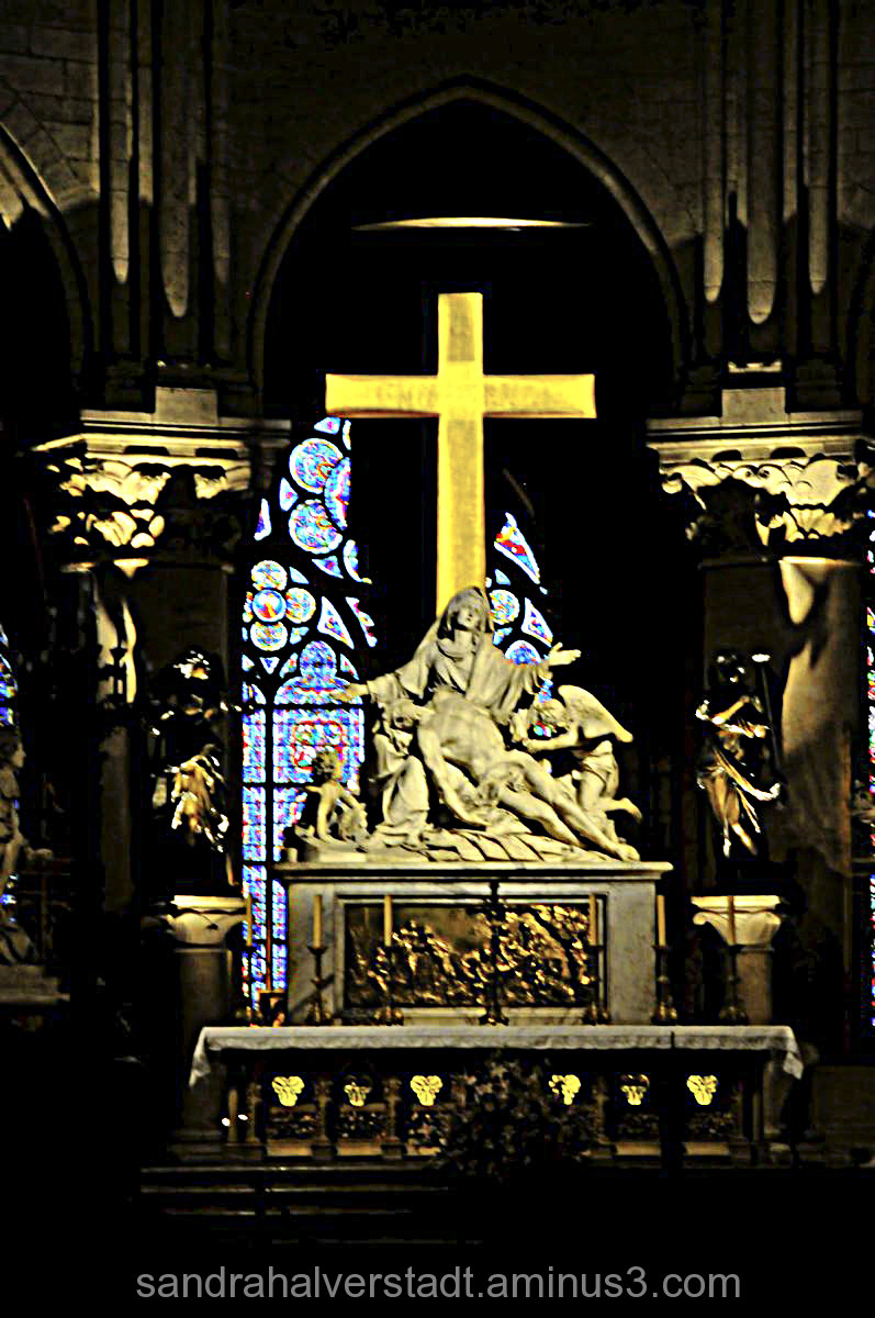 Altar Notre Dame Cathedral, Paris France