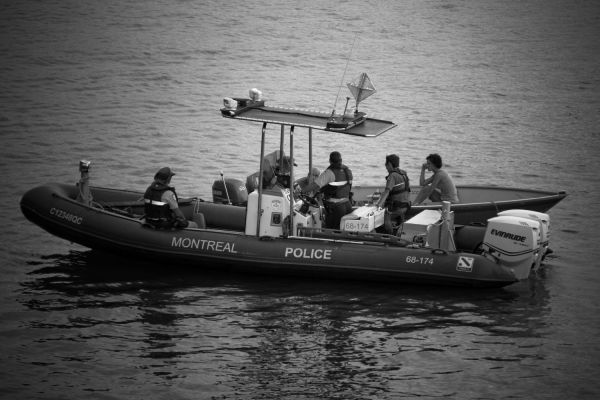 Police and boat