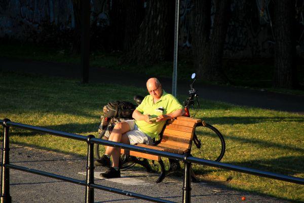 Reader at Sunset