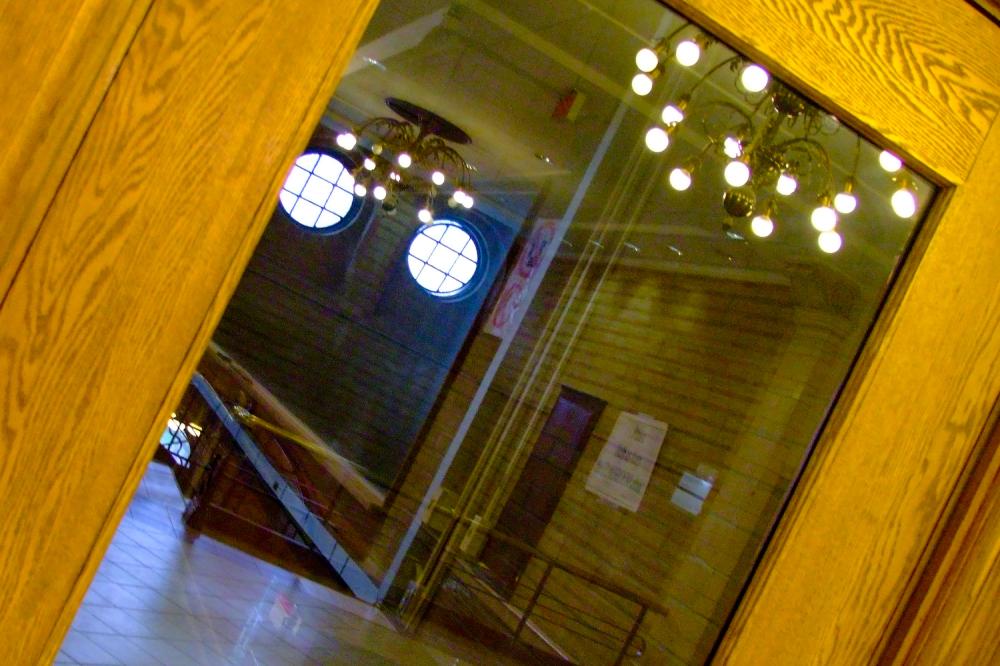 Reflection in Door