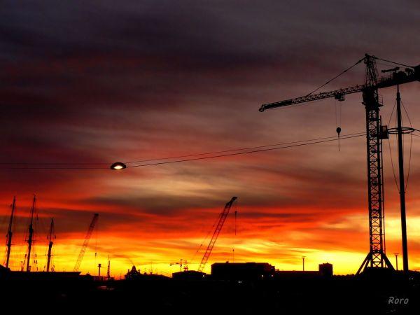 PORT GRUE LE HAVRE sunset soleil