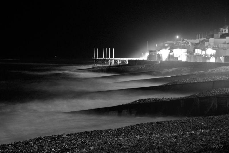 le havre, nuit, plage