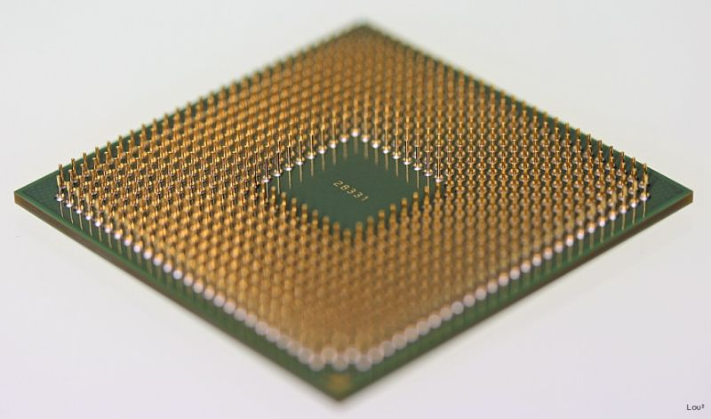 Close up on a processor