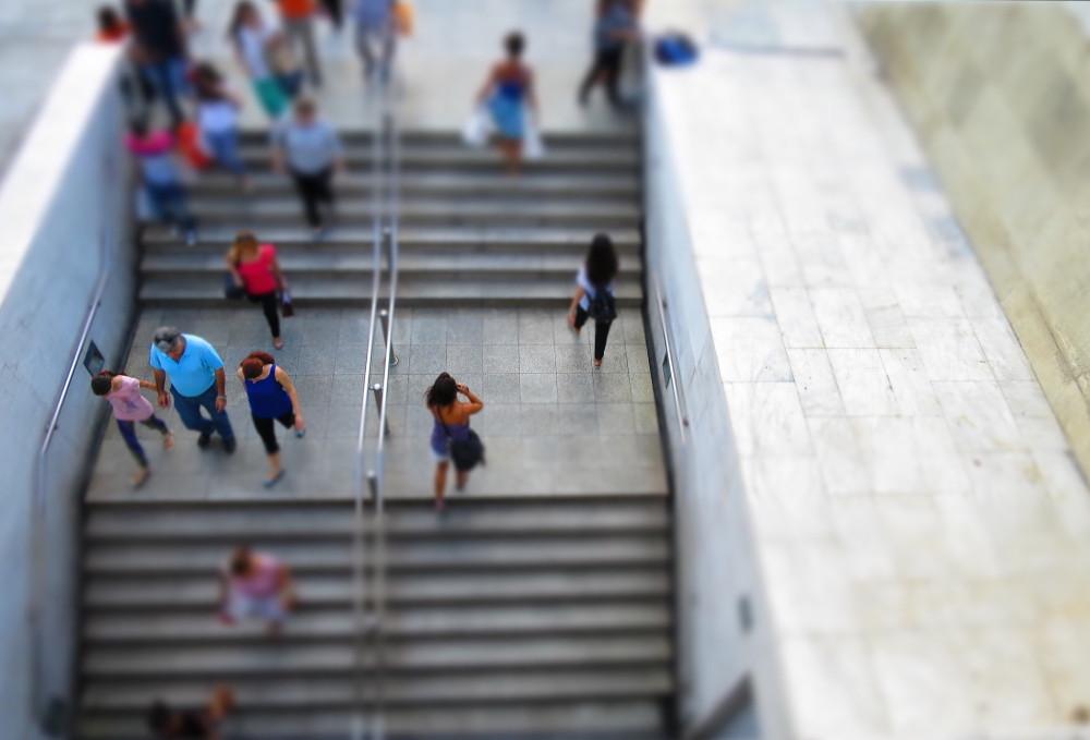 Athens subway people