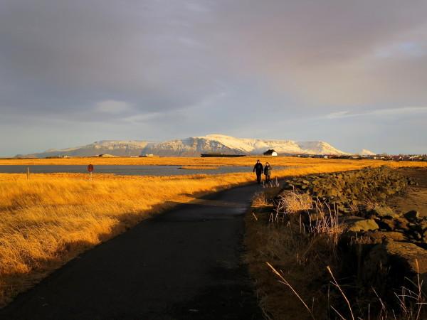 Midday Sun in Reykjavik