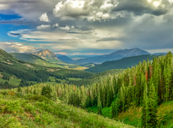 Storm Clouds over Mt. Crested Butte
