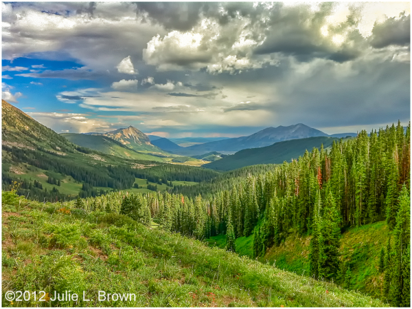 storm clouds over crested butte