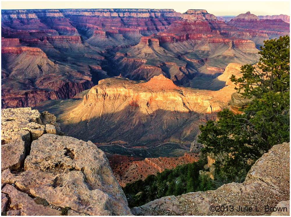 evening light grand canyon
