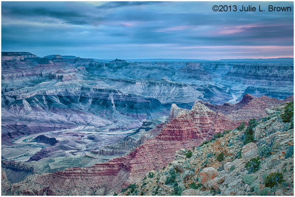 Grand Canyon & Colorado River, before sunrise HDR