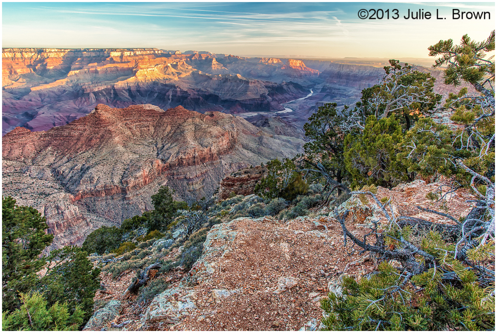 grand canyon after sunrise from desert view point