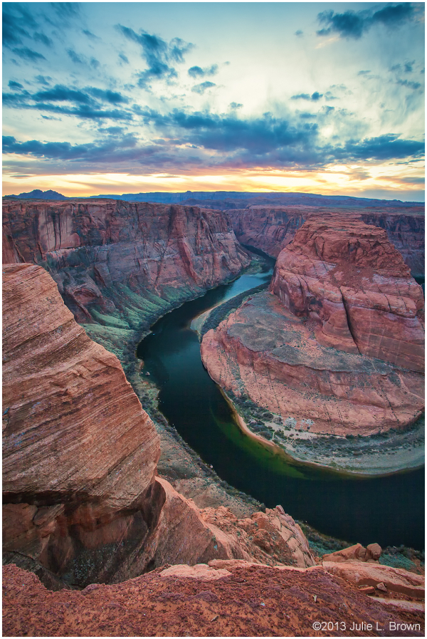 sunset at horseshoe bend page arizona