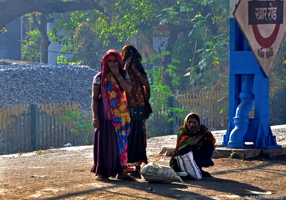 waiting for train .