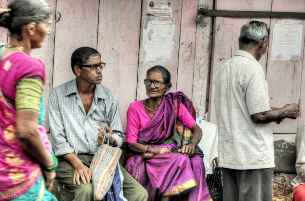 A Street Side Discussion...