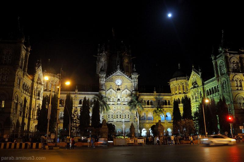 @8PM at Mumbai CST.