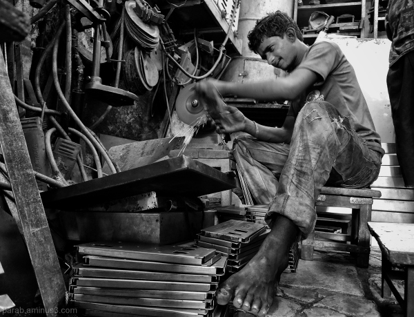 Young worker..