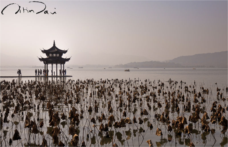 Winter in the West lake