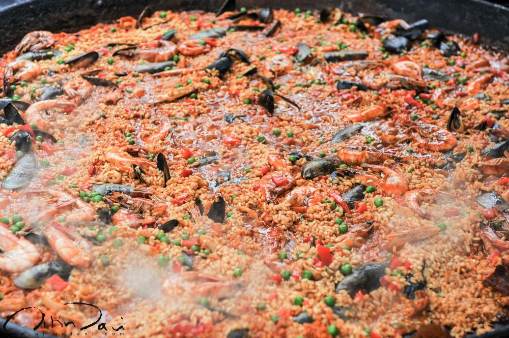 paella, london, portobello market, street food