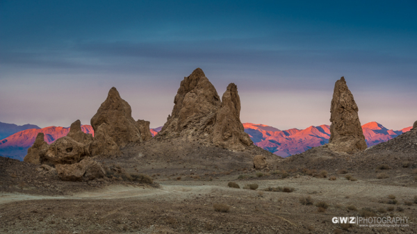 Tronia Pinnacles at Sunset