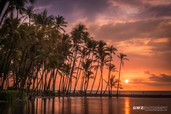 Sunset at Anaeho'omalu Bay, Puako, HI