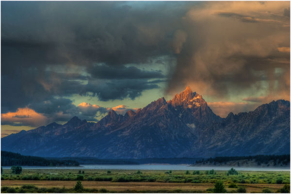 Clearing Storm Over Teton Range