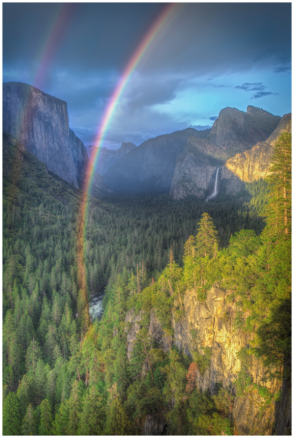 Tunnel View Double Rainbow