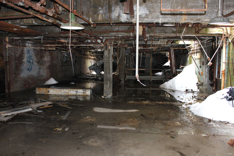 Cellar of abandoned lab