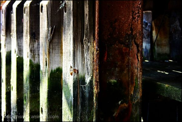 rust and wood
