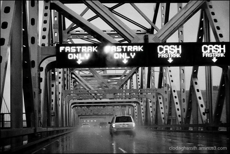 bridge in the rain