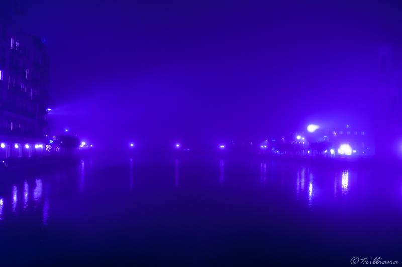 foggy blueness