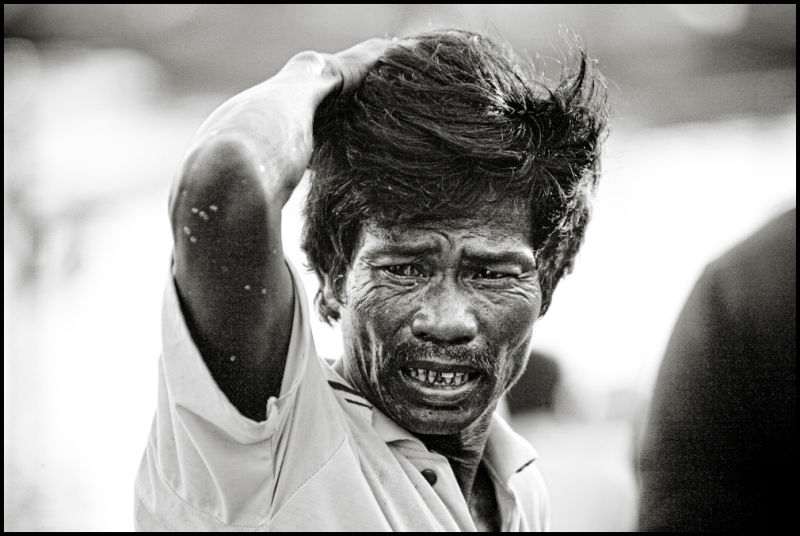 portrait of a vietnamese fisherman