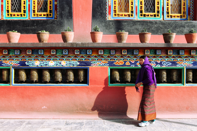 Circumambulating Shechen Monastery