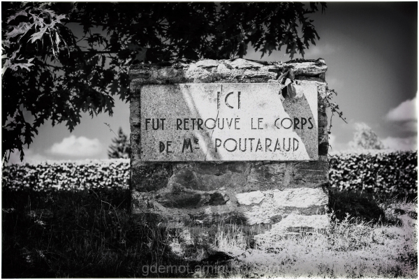 memorial stone of mr Poutaraud