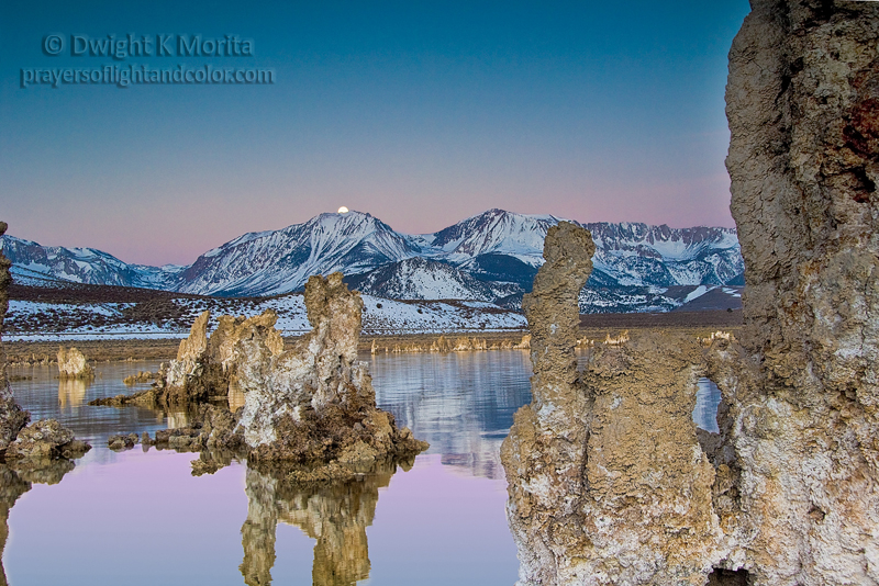 Full Moon Sets Over Mono Lake on Easter Morning