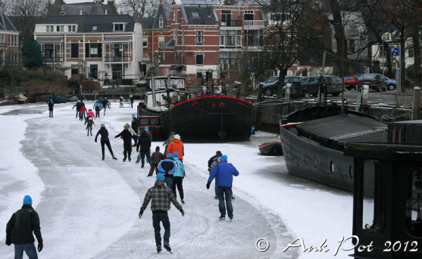 Iceskating on canals
