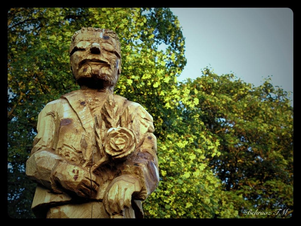 wooden man stadsparken
