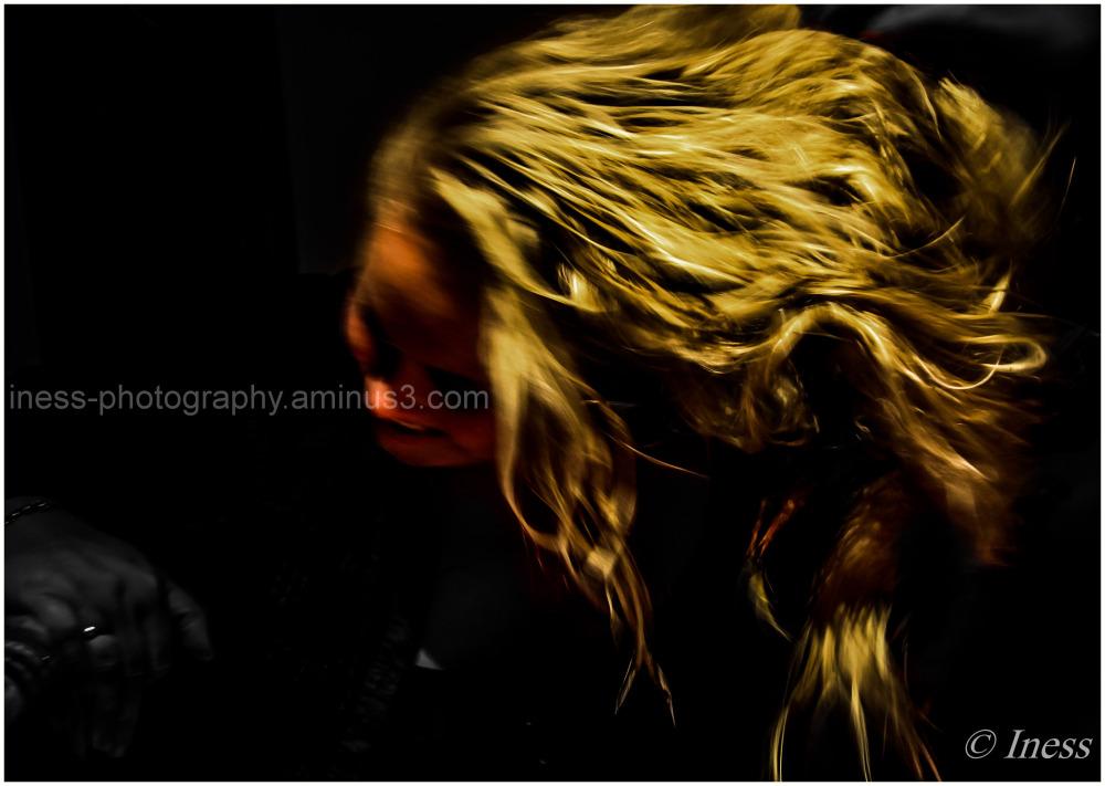 her hair