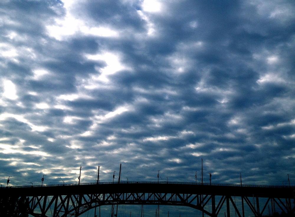granville bridge at dusk
