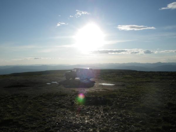 Keno Hill near solstice