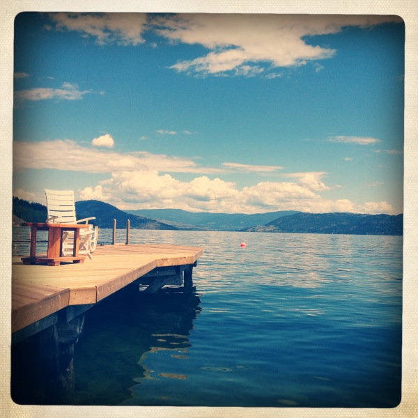 dock on Okanagan Lake