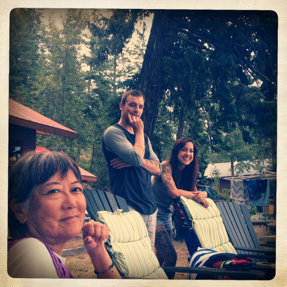 Family at the Cabin
