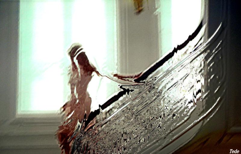 Reflet dans l'escalier