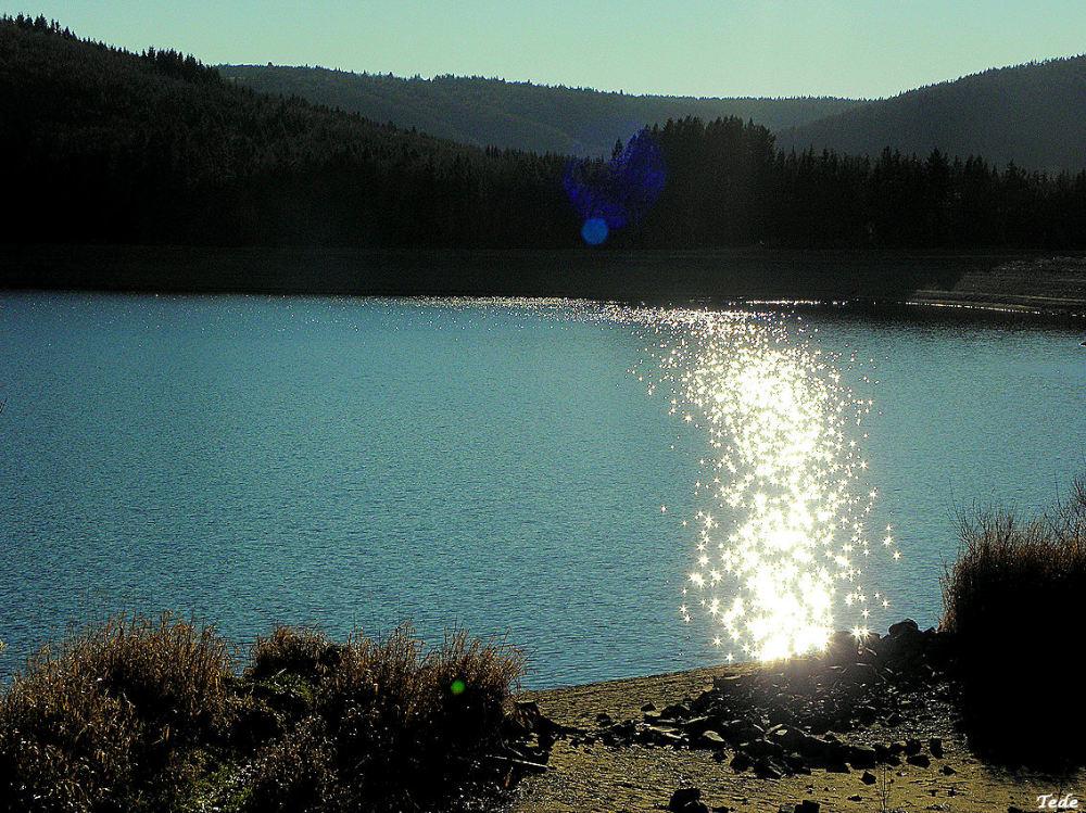 Le lac d'Issarlès, Ardèche