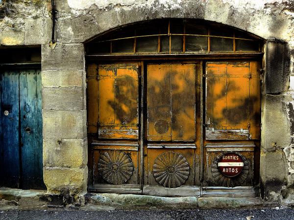 Ancienne porte de garage
