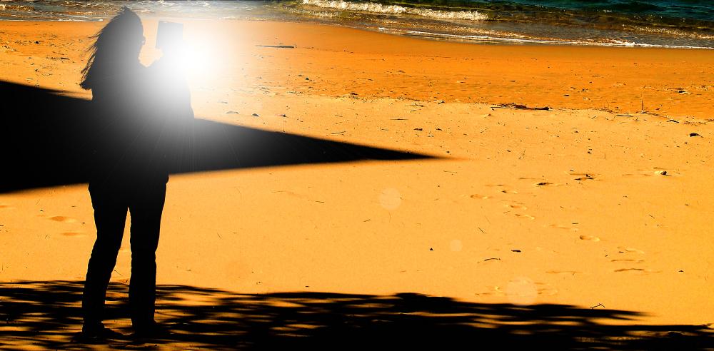 Portrait sur la plage
