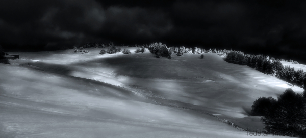 Neige sur la montagne Ardéchoise