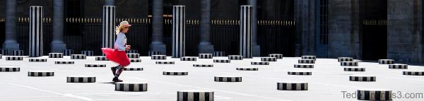 Les colonnes de Buren à Paris