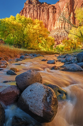 Autumn Afternoon at a Red Rock River